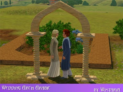 my sims 3 arabic wedding arches by wistaria