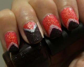 OPI Jinx and Vesper from Bond Girls collection chevron
