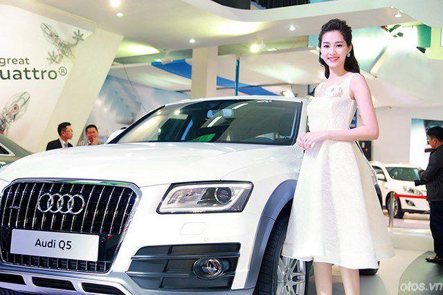 Xe sang Audi đẹp rạng ngời bên hoa hậu Đặng Thu Thảo