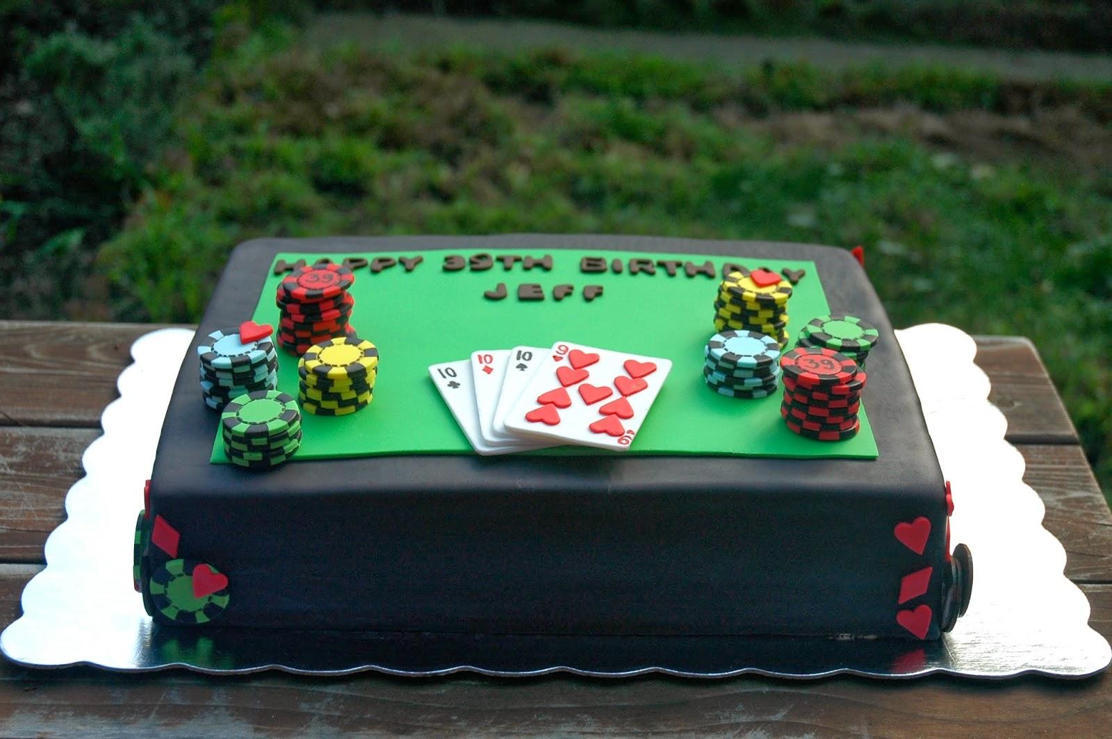 Bonbini Casino Themed Birthday Cake