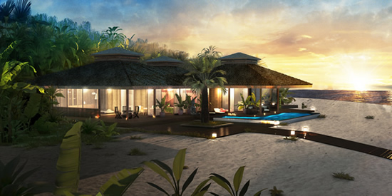 Luxury Beachfront Property at Aniyana, Middle Caicos, Turks & Caicos (artist's impression)