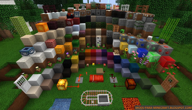 Todas las texturas del resource pack MarvelousCraft