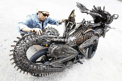 moto modificada a aliens