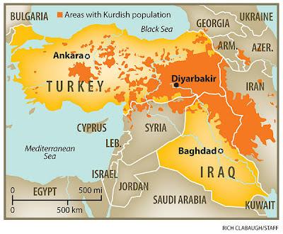 la proxima guerra kurdos en turquia siria irak iran mapa