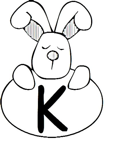 a desenhar letras do alfabeto letra K colorir