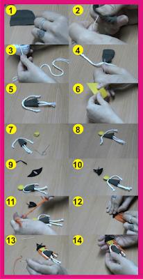 Como hacer brujita de hilo y tela