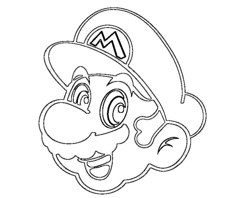 #9 Super Mario Coloring Page