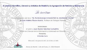 Presentación del Libro sobre Antonio Tovar en Madrid