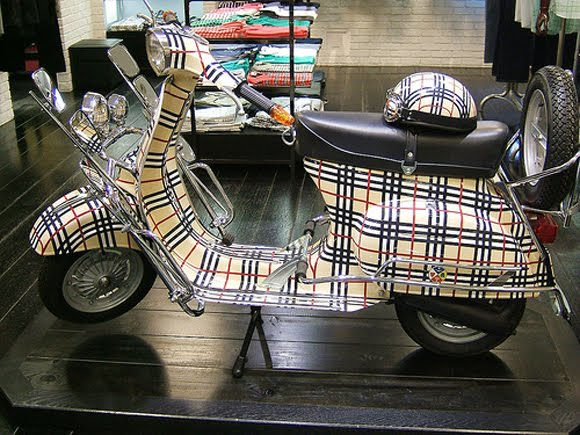 Tartan Vespa Bike Art car Central
