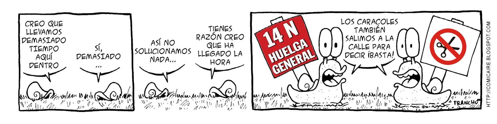 Tira comica 142 del webcomic Cargols del dibujante Franchu de Barcelona