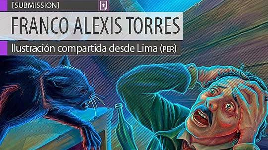Ilustración. Gato negro de FRANCO ALEXIS TORRES