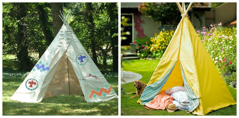 Coastal teepee tents