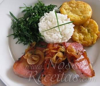 receita deliciosa de polenta frita para o almoço