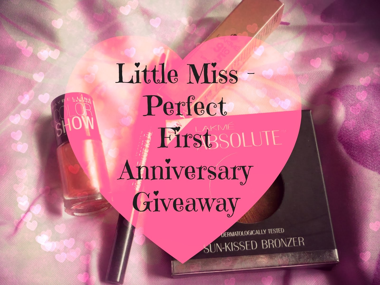 Enter my one year anniversary international give-away