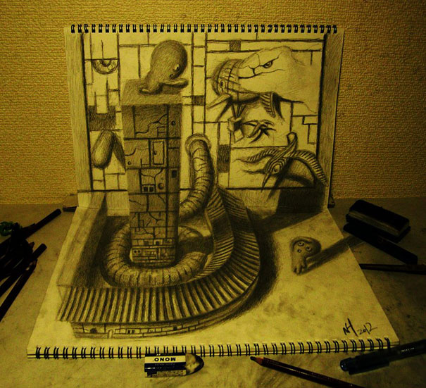 Desenhos Brutais Em 3D De Hideyuki Nagai