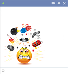 Angry Facebook emoticon