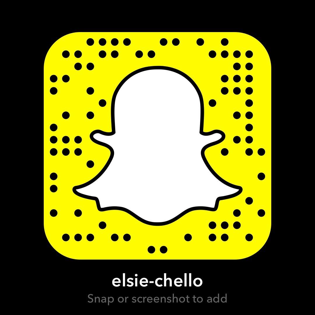 Please follow me on Snapchat