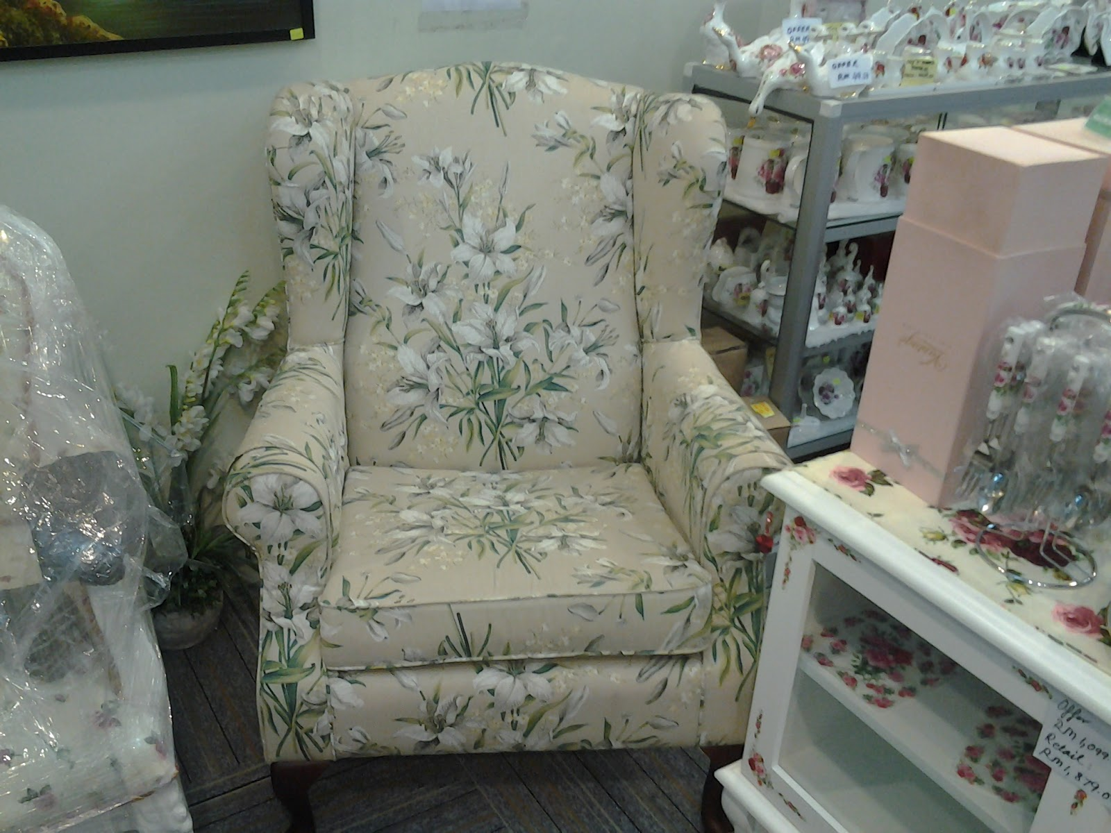 NZ LOVELY HOME DECOR Kerusi Vantage Wing Chair