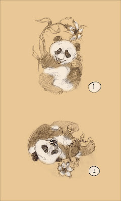 cute playing baby pandas