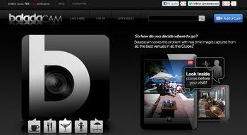 Gobefore, transmisiones por webcam desde lugares de entretenimiento