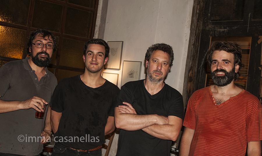 Pablo Rega, Gabriel Ferrandini, Hernani Faustino i Albert Cirera, Taller Milans, Barcelona, 8-5-2015