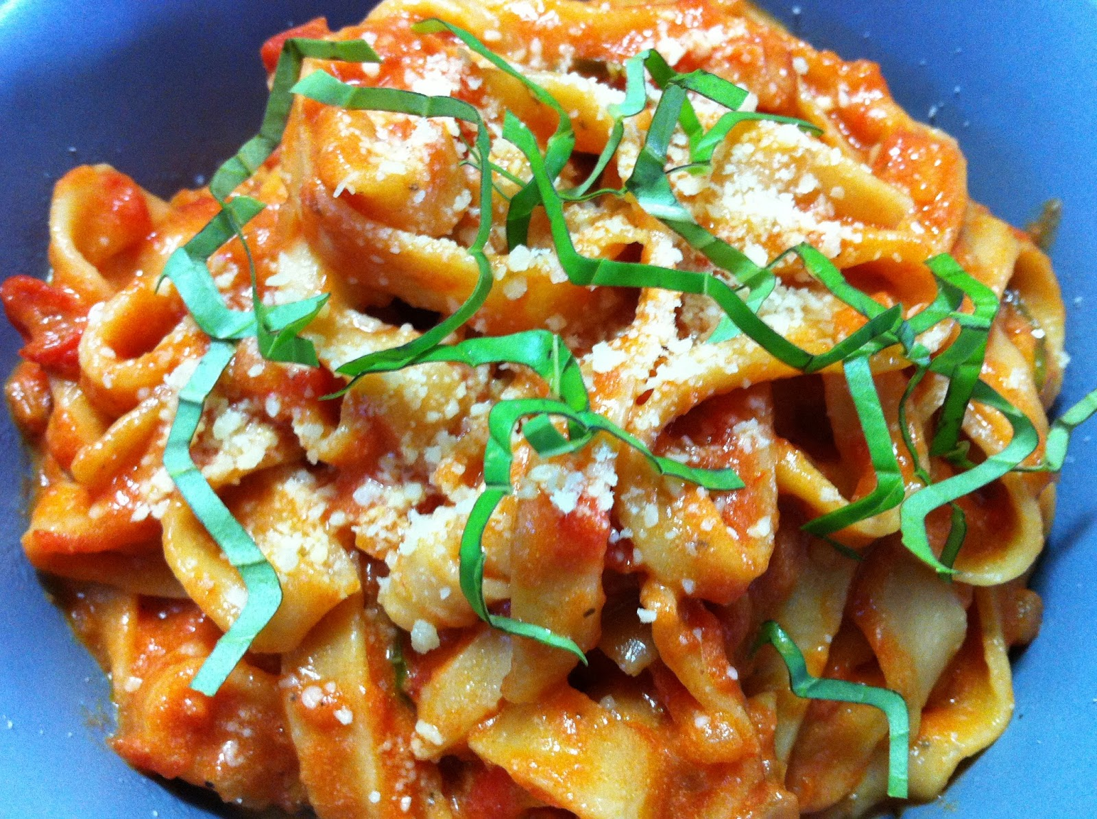 Cooking with SAHD: Roasted Red Bell Pepper Pasta with ...