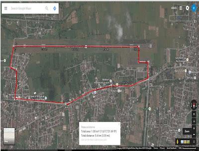 Rute Angkasa Pura Airport Running Series 2 Lombok, lomba lari di landasan terbang bandara internasional lombok