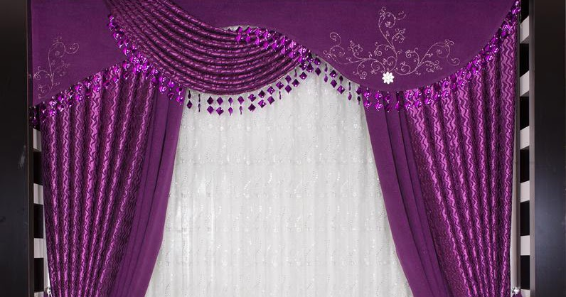 Red curtains living room - Turkish Purple Curtain Design For Modern Bedroom