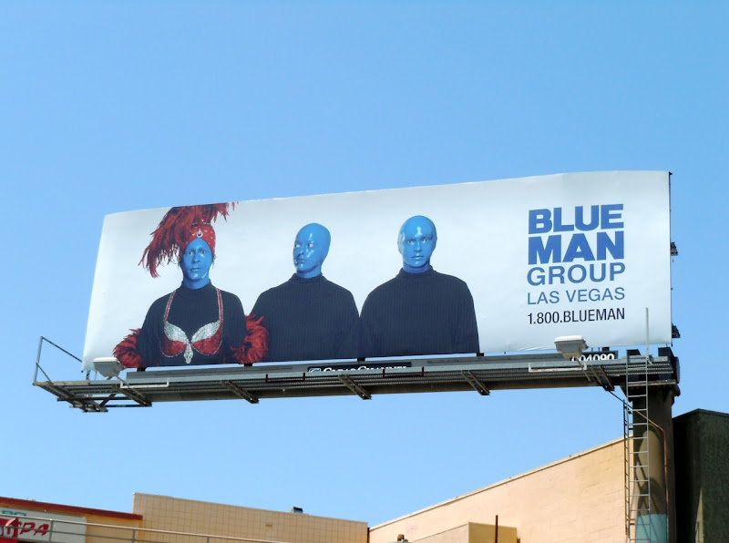 Blue Man Group Vegas billboard