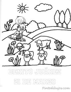 Benito Juarez pastor 21 de marzo para colorear