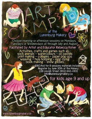 Summer Art Camp At Lunenburg Makery on Making Art With Kids Oil Pastels That Pop
