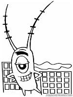 Gambar plankton raksasa untuk diwarnai