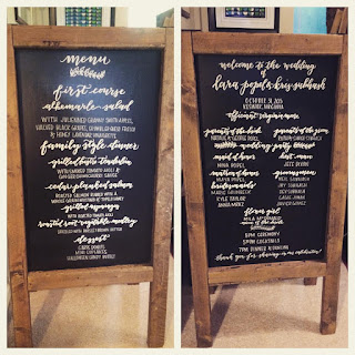 calligraphy signs program menu