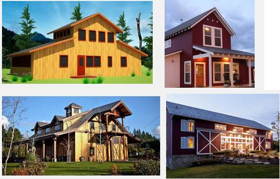 Barn style house plans barn style house plans for Barn type homes