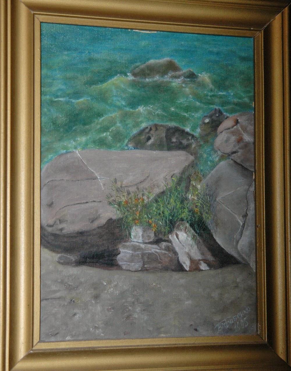 картина Виталия Бабенко Море и камни