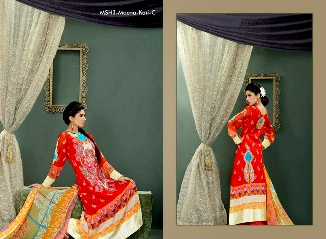 Mashaal Embroidered Summer Dresses 2014