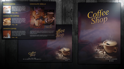 Create Easy Bi Fold Coffee Shop Brochure In Photoshop