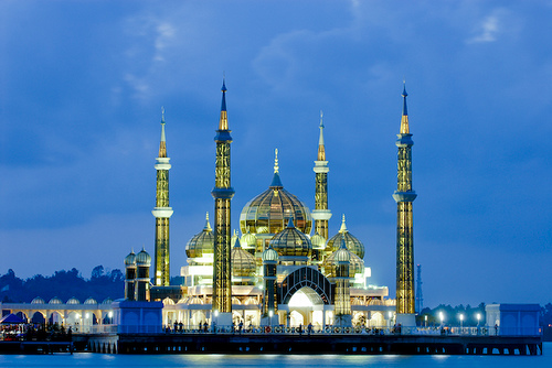 Travel and living malaysia crystal mosque for Terengganu home wallpaper 2016