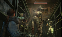 Resident Evil Revelations Jill Knocked Down
