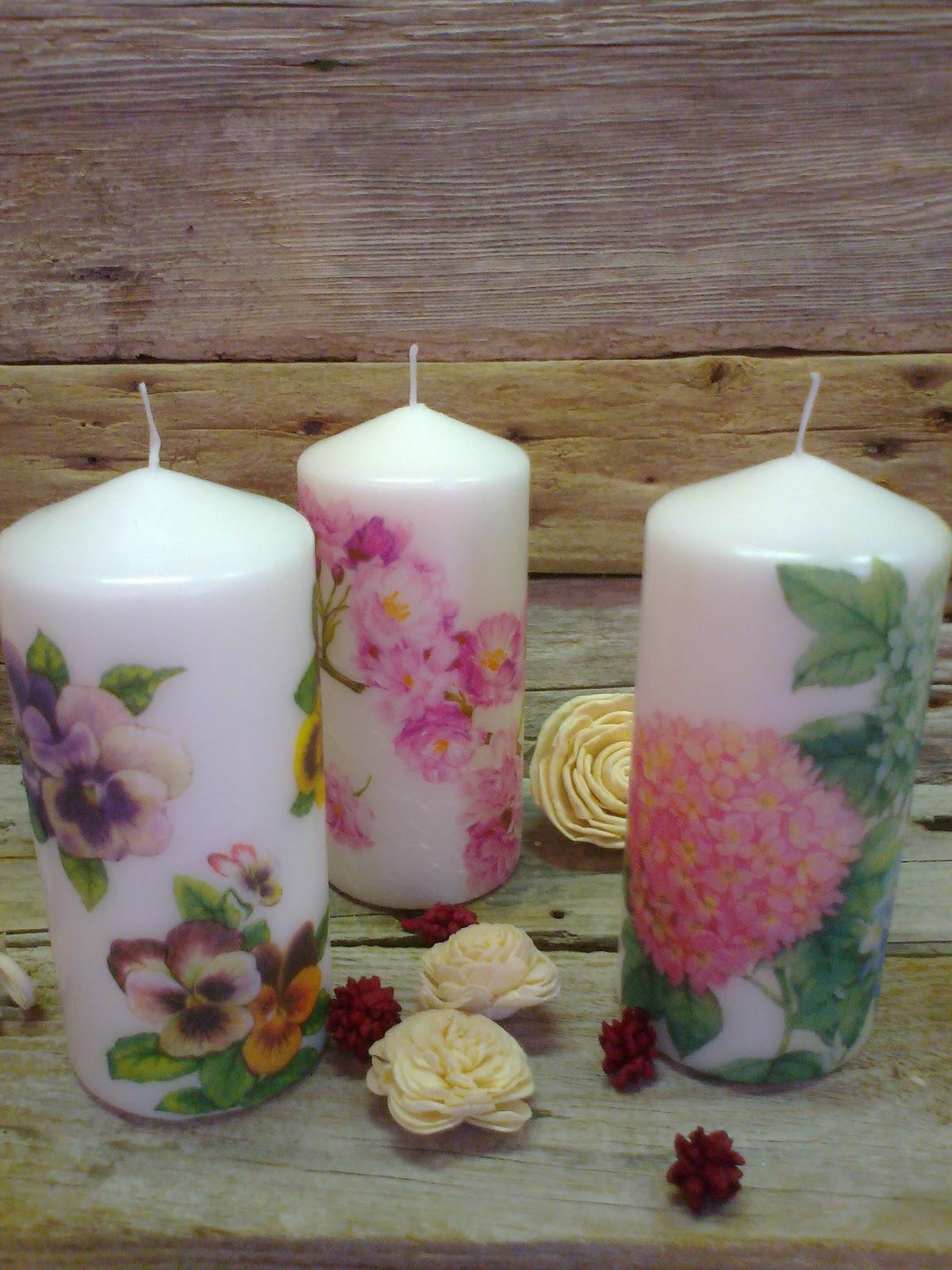 Manualidades el dintel velas decoradas y decoupage en - Velas de navidad decoradas ...