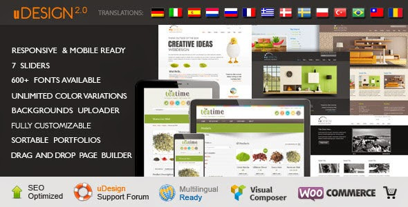 U-Design Responsive WordPress Theme Download Free [Current Version 2.7.15]