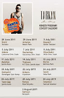 Tarkan's concert calendar for 10th Fanta Youth Festival