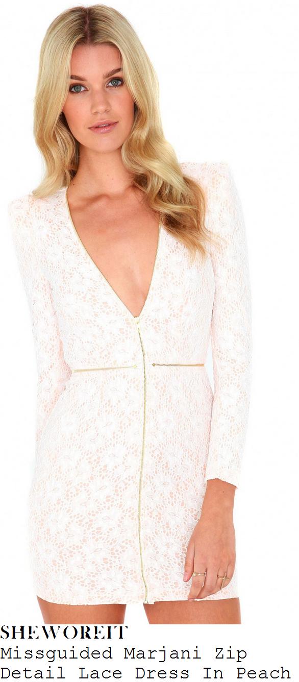 billie-faiers-white-lace-zip-detail-long-sleeve-dress