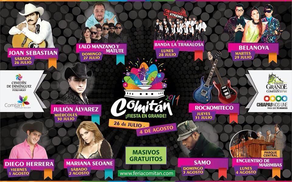 Expo Comitán 2014 programa