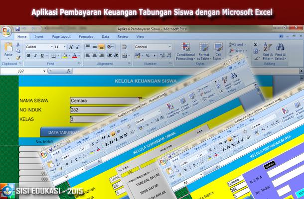 Aplikasi Pembayaran Keuangan Tabungan Siswa dengan Microsoft Excel