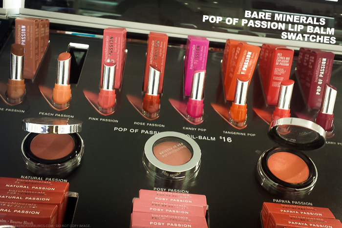 Bare Minerals Pop of Passion Lip Balm - Swatches