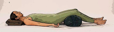 Savasana with Knee Support