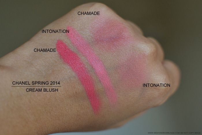 Chanel Cream Blush Chamade Inotation Spring 2014 Makeup Collection Swatches Photos