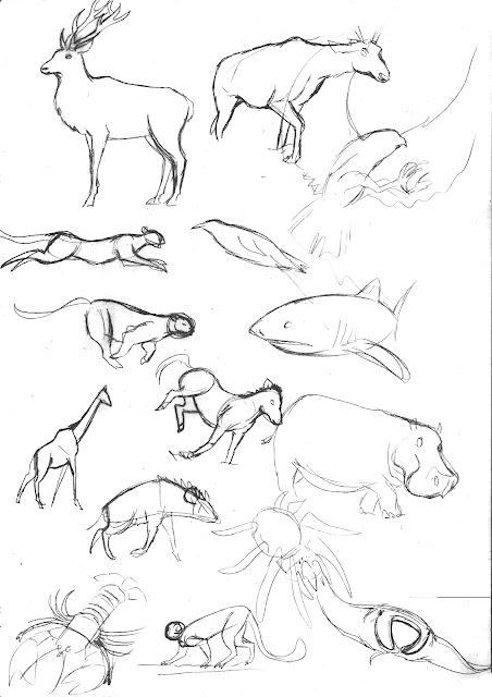 Jb blog croquis d 39 animaux et hybrides octobre - Croquis animaux ...