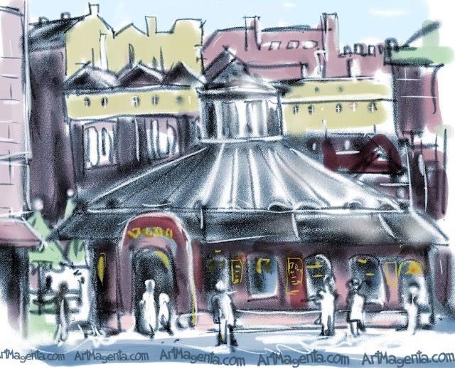 Plac Nowy is a sketch by Artmagenta
